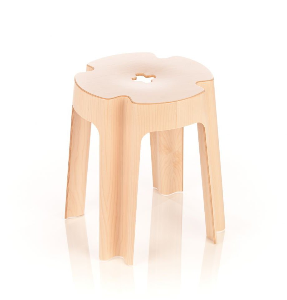 Rīgas Krēslu Fabrikas ražotā taburete BLOOM (dizains - Aldis Circenis) / red dot award: product design 2012