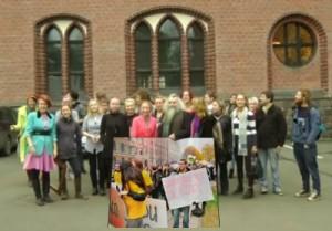 Akcija Pastaiga '2012 / Latvijas mākslas akadēmija / prasība Roberta Ķīļa demisijai