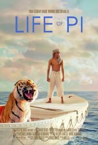 """Mākslas filma """"Pī dzīve"""" (Life of Pi / ASV / 2012) / kino afiša"""