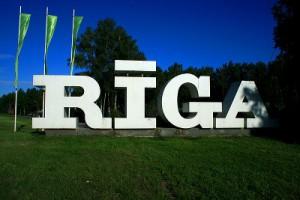Rīga, Rīgas zīme, uzraksts / Valdis Celms, grafiskais dizains