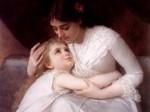 Mātes dienas simboli / māte ar bērnu