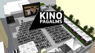 KinoPagalms - brīvdabas kino Latvijā, Rīgā / mākslas filmas brīvā dabā