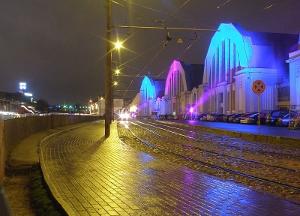 Staro Rīga gaismas festivāls novembrī / Centrāltirgus paviljoni staro